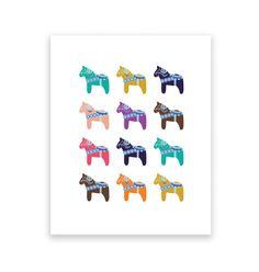 Dala Horse Print    Digitally printed onto premium quality heavy stock paper.    This listing is for the art print only - frame not included.   Colours may vary slightly on your screen.    Available in 2 colour combinations (please see other listings)    AUSTRALIAN CUSTOMERS: GST is included in the price.    SHIPPING:  The artwork is packaged in a clear cello bag with heavy board to protect it from bending.  Item will be shipped ...