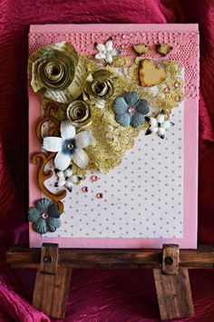 Turn a small artist's canvas panel into a delightful mixed media artwork. The main focus point in this Paper Rose DIY Mixed Media Art is DIY paper roses made from the pages of an old book. Book page crafts add a vintage touch like this DIY wall art. Cool Wall Art, Diy Wall Art, Mixed Media Artwork, Mixed Media Canvas, Quilling Birthday Cards, Book Page Flowers, Paper Succulents, Book Page Crafts, Craft Free