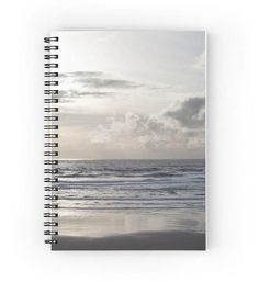 Silver Scene ~ Beach Notebook ~ Beach Gift for Writer ~ Grey Spiral Notebook ~ Monochromatic Art Print Notepad ~ Beach Journal Cover ~ Gray Diary ~ Zen Photo by #NancyJsLifestyle