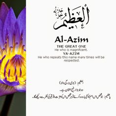 Al Asma Ul Husna 99 Names Of Allah God. The 99 Beautiful Names of Allah with Urdu and English Meanings. Beautiful Names Of Allah, Beautiful Quran Quotes, Islamic Love Quotes, Islamic Inspirational Quotes, Allah God, Allah Islam, Islam Beliefs, Doa Islam, Islam Hadith