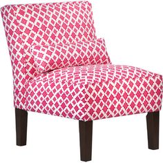 Showcasing a geometric motif and coordinating accent pillow, this distinctive arm chair is an eye-catching addition to your study or den.  ...