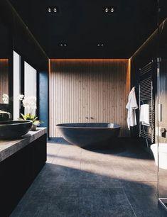 Stylish BATHROOM Design Ideas and Decoration Images for 2019 Part bathroom decor; Bathroom Design Tool, Bathroom Designs Images, Modern Bathroom Design, Contemporary Bathrooms, Bathroom Interior Design, Modern Design, Design Loft, Pop Design, Villa Design