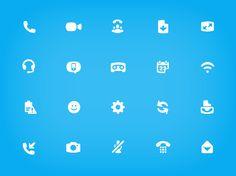 Skype Iconography. Icon Design for Skype UI