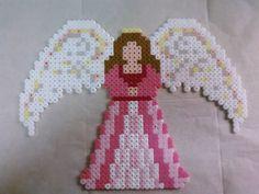 Perler bead angel by queenbee1977, via Flickr