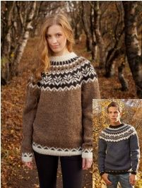 Anniversary Sweater - Free Pattern Free Knitting Pattern Iceland Wool Sweater for Adult Fair Isle Knitting Patterns, Sweater Knitting Patterns, Knitting Designs, Knit Patterns, Free Knitting, Norwegian Knitting, Nordic Sweater, Icelandic Sweaters, Hand Knitted Sweaters