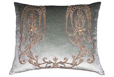 Pillow w/ Antique Turkish Embroidery