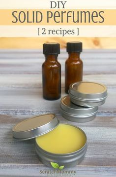 Easy process: Solid Perfume Recipes with Essential Oils (2 recipes for you to enjoy)!- Scratch Mommy