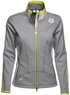 Celia Daily Sports Ladies Mock Neck Silver Golf Jacket at #lorisgolfshoppe