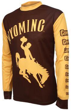 University of Wyoming Cowboys Long Sleeve Mountain Bike . Mountain Bike Jerseys, Mountain Biking, Wyoming Cowboys, Fitness Studio, Mtb, Cycling, Sweatshirts, Long Sleeve, Mens Tops