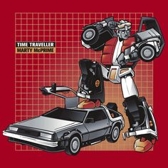 Check it out, it's my childhood: Marty McPrime: Transformers Back To The Future Mash-Up [T-Shirt]