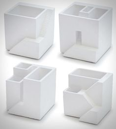 """If you're passionate gardener and your home is full of different plants or if you simple like creative interior ideas then you will love this set of miniature planters. Created by Japanese design company Metaphys and called """"Ienami"""" these contemporary micro homes look good with delicate plants like soft mosses and small succulents. There are …"""