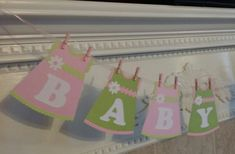 BABY GIRL BANNER  Baby Banner  Baby Shower by CreationsbyColett