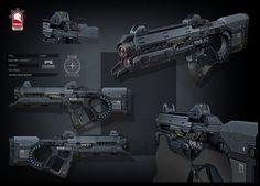 Star Citizen - laser rifle, Kris Thaler on ArtStation at https://www.artstation.com/artwork/star-citizen-laser-rifle