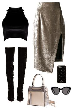 """""""Sin título #955"""" by bethsalash ❤ liked on Polyvore featuring Off-White, Boohoo, Christian Louboutin, Gucci and Kate Spade"""
