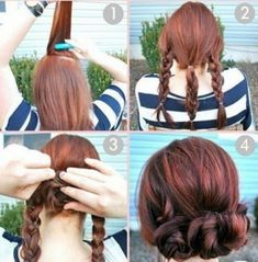 What's the Difference Between a Bun and a Chignon? - How to Do a Chignon Bun – Easy Chignon Hair Tutorial - The Trending Hairstyle Popular Hairstyles, Pretty Hairstyles, Braided Hairstyles, School Hairstyles, Simple Hairstyles, Prom Hairstyles, Medium Hairstyles, Summer Hairstyles, Everyday Hairstyles