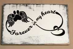 Forever in my heart dog memorial sign, sympathy gifts for loss of pet - This sign will be a cherished keepsake for the person who is grieving from pet loss. Give the gift - Tatoo Dog, Dog Tattoos, Animal Tattoos, Body Art Tattoos, Small Tattoos, Tatoos, Tattoo Memory, 1 Tattoo, Dog Memorial Tattoos