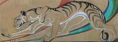 Tiger by Orovida Camille Pissarro. 1918г.