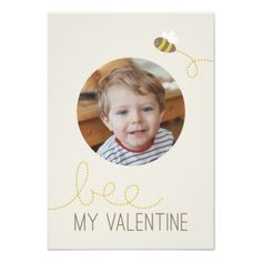 Bee My Valentine Classroom Valentine Custom Announcements