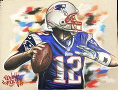 Brady drops back to pass...