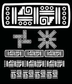 orw Arte Tribal, Pattern Library, Mexican Folk Art, Diy Crafts, Letters, Tattos, Bangle, Fonts, Mexico