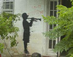 Banksy, upper ninth ward September 1, 2008 in New Orleans, Louisiana.