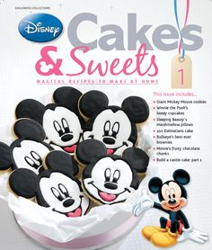 Issue one comes with a great Mickey cookie cutter and Winnie the Pooh cupcake stencils. #disneycakesandsweets