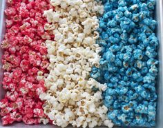 Red, White & Blue Candied Popcorn