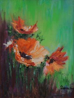 """""""Zanoubia"""" Art Flower Modern Original Abstract Painting Oil On Canvas Decor Wall"""
