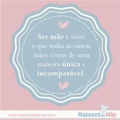 Frases de Mãe - Mom quotes - Mother Social Security, Personalized Items, Mom, Cards, Boutique, Facebook, Quotes, Its Complicated, Everything