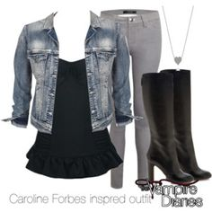 Caroline Forbes inspred outfit/The Vampire Diaries