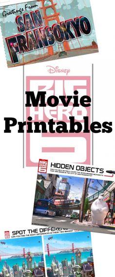 Big Hero 6 Printables