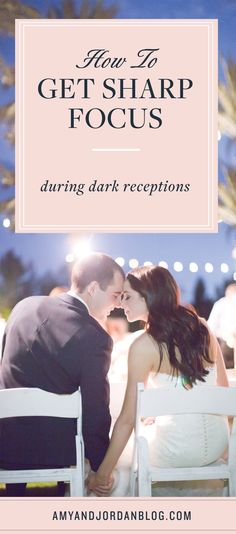 How to get sharp focus during dark receptions.
