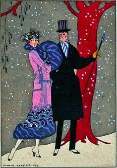 1919 Художник: Жорж Барбье. 1919 год