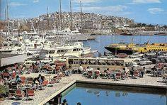 "Zea Marina, Piraeus (Late 1960s- Early 1970s).    Photos from late 1960s - early 1970s. Scanned from the book ""Athens - The City and Its Museum"" printed 1979. Published by Ekdotike Athenon SA, 11 Omirou Street, Athens 135, Greece"