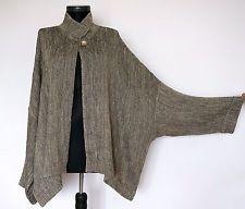 IVAN GRUNDAHL Linea S Lagenlook Olive/Beige Linen/Cotton Cardigan