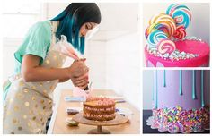 How to make vibrant drip-design cakes like Katherine Sabbath