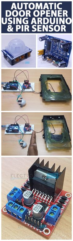 An Automatic Door Opener System is a simple project based on PIR Sensor and Arduino, which automatically opens and closes the door by detecting a person or object.