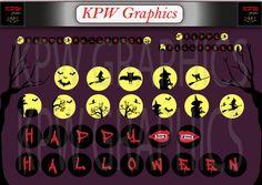 Halloween Banner Discs 6 inches Diameter  High by KPWgraphics