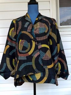 ASIAN STYLE WOMEN'S  PATTERN JACKET SIZE LARGE #UNKNOWN #ASIAN #Evening