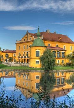 Castle Wasserburg in Salzburg, Austria.