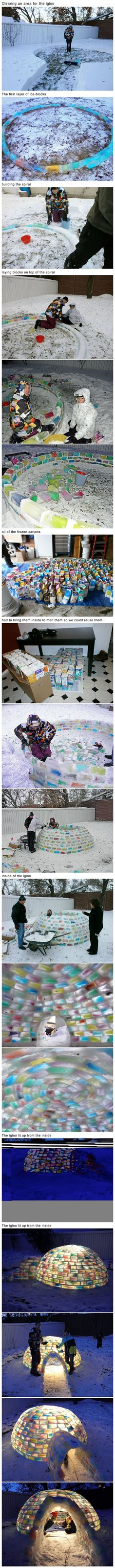 Instructions for a colored igloo