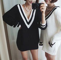 Sexy V-neck knit sweater #DG102411
