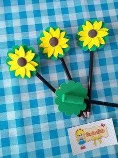 Foam Crafts, Easter Crafts For Kids, Craft Stick Crafts, Paper Crafts, Pencil Topper Crafts, Pencil Crafts, Butterfly Crafts, Flower Crafts, Pen Toppers
