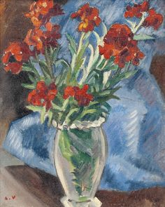 Flowers, Carnations, 1938, by Louis Valtat (French, 1869–1952).