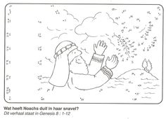 Noah and the dove Genesis 8 Dot-to-dot Printable Sunday School Bible Story Crafts, Bible School Crafts, Bible Crafts For Kids, Bible Lessons For Kids, Bible Stories, Sunday School Projects, Sunday School Activities, Bible Activities, Church Activities