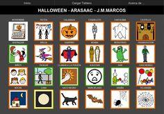 TABLERO DE COMUNICACIÓN PARA ARABOARD: Halloween. Tablero de 32 casillas (8x4) del comunicador AraBoard para responder a preguntas sobre el cuento de Los tres cerditos.  Descargar AraBoard versión PC:  http://giga.cps.unizar.es/affectivelab/araboard.html     Descargar AraBoard versión Android desde Google Play.    http://arasaac.org/materiales.php?id_material=779