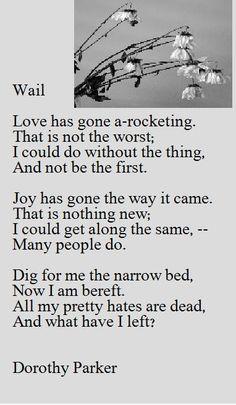 Wail   Dorothy Parker  Resume Dorothy Parker