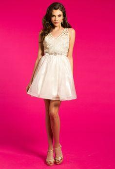Metallic Lace Dress with Illusion Back