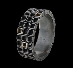 Gigi Mariani Bracelet: And the clouds were running, 2014 Silver, 18kt yellow gold, niello, patina