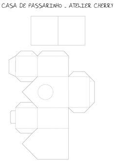 *Post recuperado   Queridas, aqui está a Casa de passarinho em papel de scrapbook. Pra quem quiser o molde completo é só clicar A...